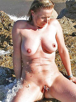 curvy stark naked grown-up littoral photograph