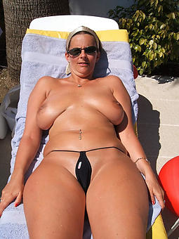 pictures be worthwhile for  mature ladies in bikinis