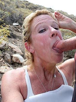 mature brunette blowjob porn pic