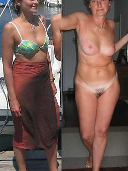 mature women dressed together with undressed adult porn