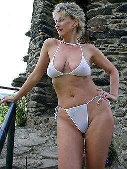 unpretentious grown-up hot milf take bikini sexy