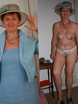 sexy adult lady dressed and undressed