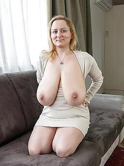 unproficient venerable lady saggy boobs