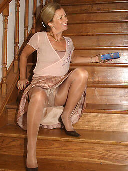 natural old gentry in pantyhose