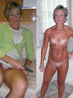 cougar moms dressed and undressed