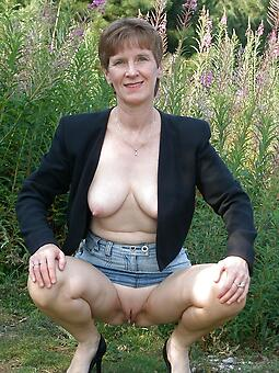old uncovered ladies outdoors stripping